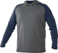 Front of Rawlings Navy/Gray Youth Hurler Lightweight Hoodie - SKU #YHLWH-GR/B-88 image number null