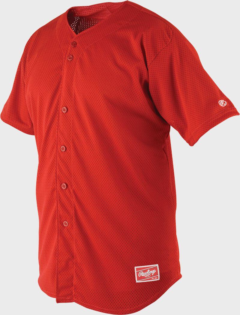 Front of Rawlings Royal Adult Short Sleeve Jersey  - SKU #RBJ167
