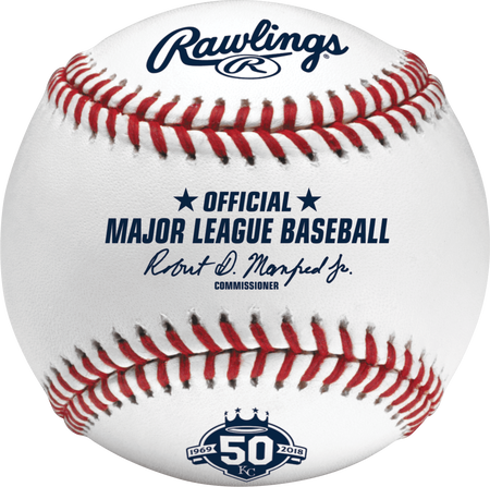MLB 2018 Kansas City Royals 50th Anniversary Baseball