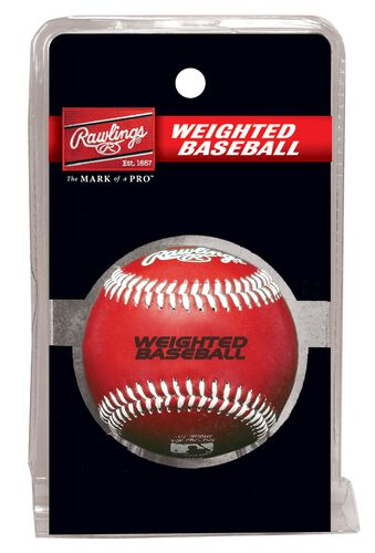 Rawlings Red Weighted Training Baseball SKU #WEIGHTBB