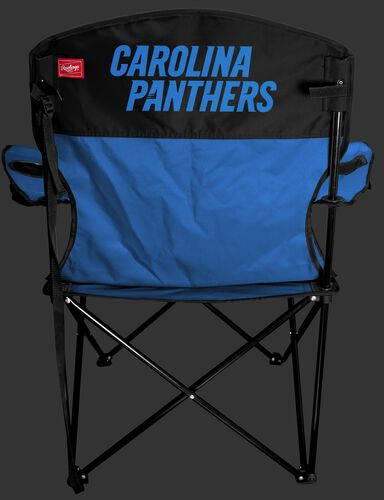 Back of Rawlings Blue and Black NFL Carolina Panthers Lineman Chair With Team Name SKU #31021090111