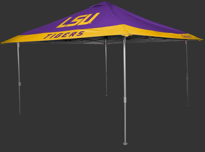 Rawlings Purple and Gold NCAA LSU Tigers 10x10 Eaved Canopy With Team Logo and Name SKU #07843035111