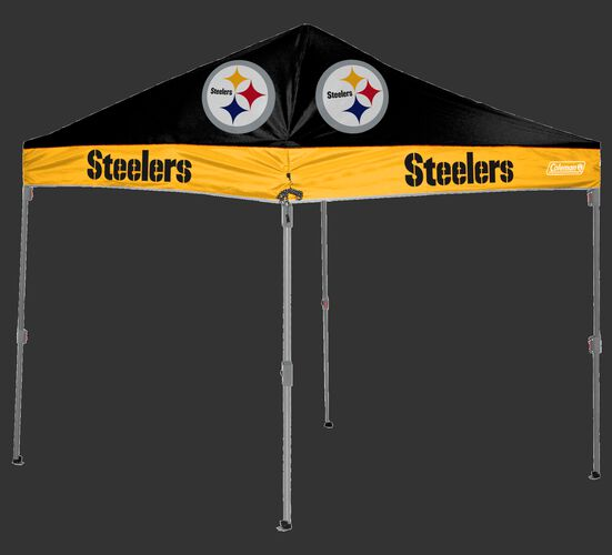 Rawlings Black and Gold NFL Pittsburgh Steelers 10x10 Canopy Shelter With Team Logo and Name SKU #03221082111