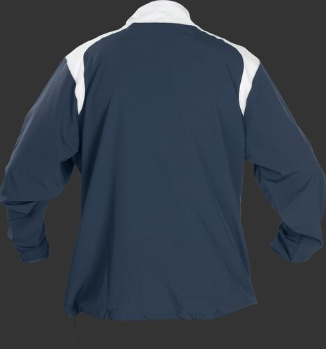 Back of Rawlings Navy Youth Long Sleeve Quarter-Zip Jacket - SKU #YFORCEJ-B-89