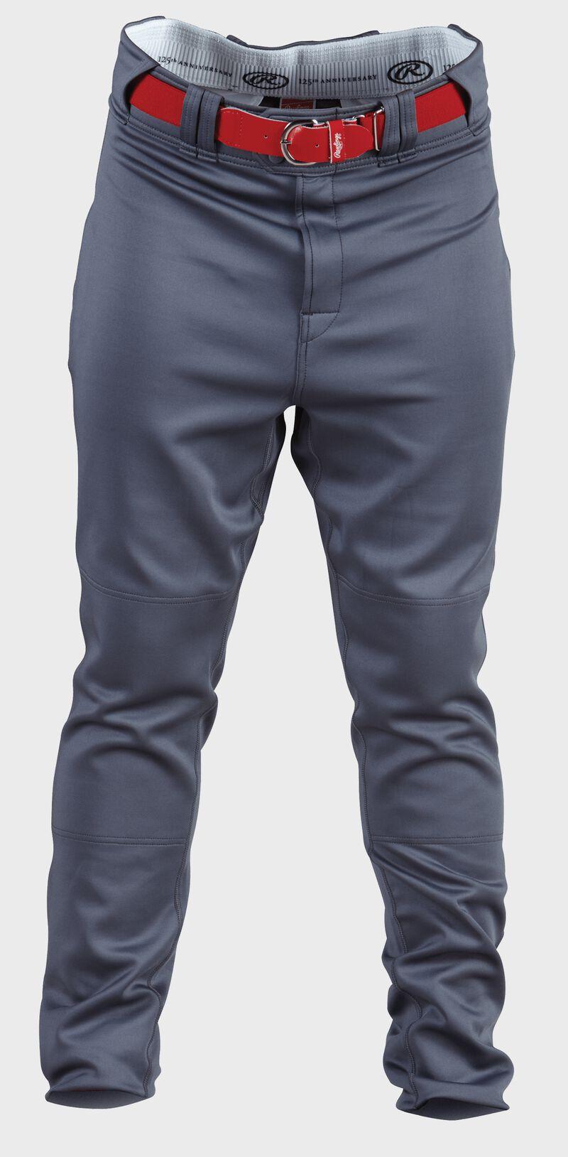 Front of Rawlings graphite Adult Premium Straight Baseball Pant - SKU #PPU140