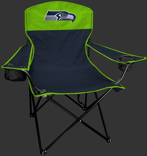 Front of Rawlings Blue and Bright Green NFL Seattle Seahawks Lineman Chair With Team Logo SKU #31021085111