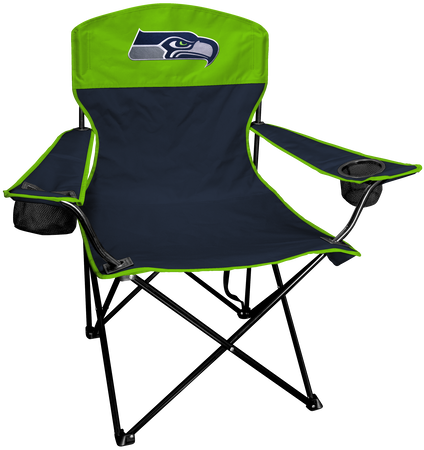 NFL Seattle Seahawks Lineman chair with team colors and logo on the back