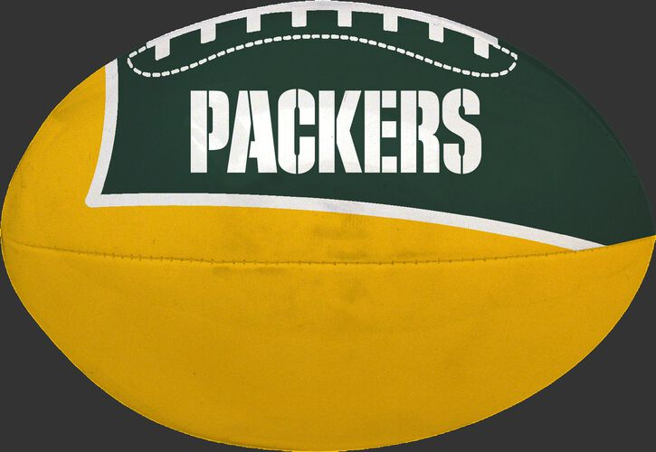 Green and Yellow NFL Green Bay Packers Football With Team Name SKU #07831068114