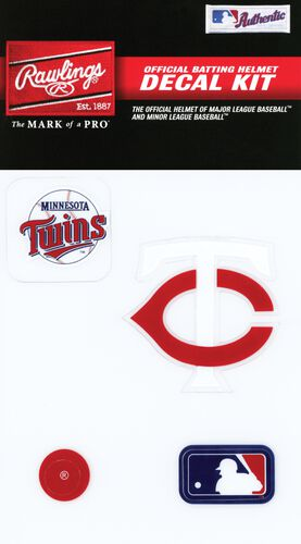 Rawlings MLB Minnesota Twins Decal Kit With Team Logos and MLB Logo SKU #MLBDC-MIN