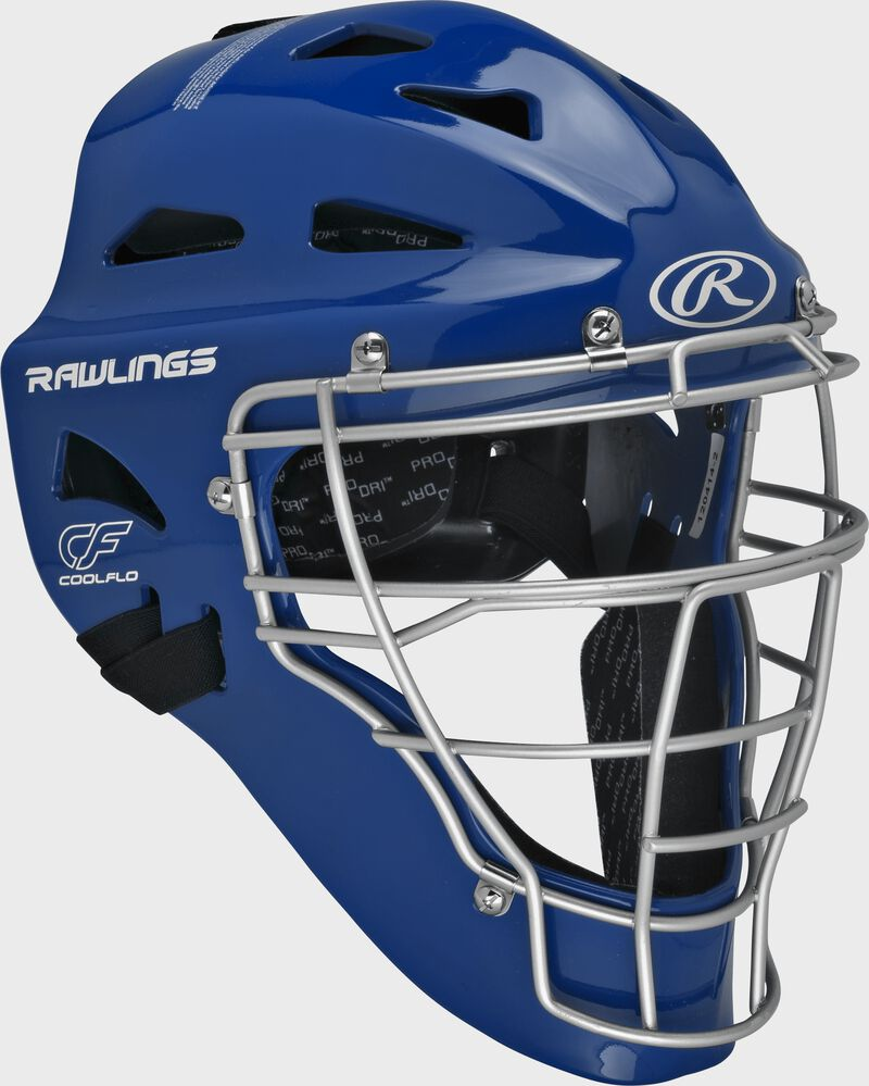 Royal Cool-Flo adult catcher's helmet with silver cage