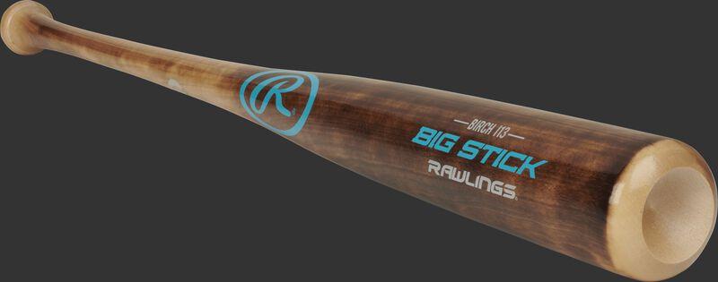 I13RBF Rawlings birch wood bat with a flame treated barrel