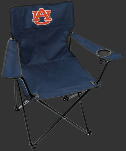 Front of Rawlings Navy and Orange NCAA Auburn Tiger Gameday Elite Chair With Team Logo SKU #00563003111