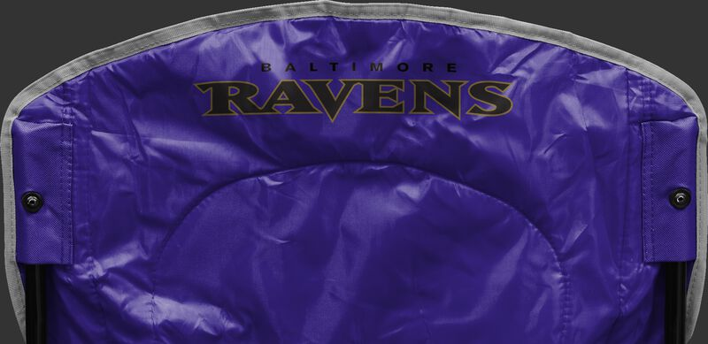 Back of Rawlings Purple NFL Baltimore Ravens Chair With Team Name SKU #02771092111