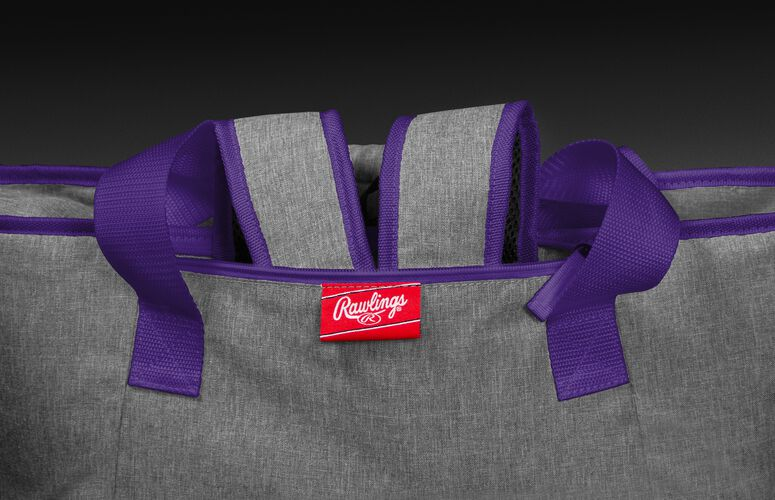 Hideaway backpack straps on a LSU Tigers 30 can cooler - SKU: 10323035111