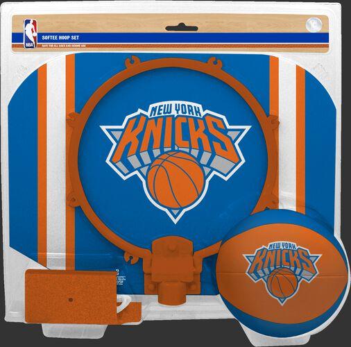 Rawlings Blue and Orange NBA New York Knicks Softee Hoop Set With Team Logo SKU #03544195114