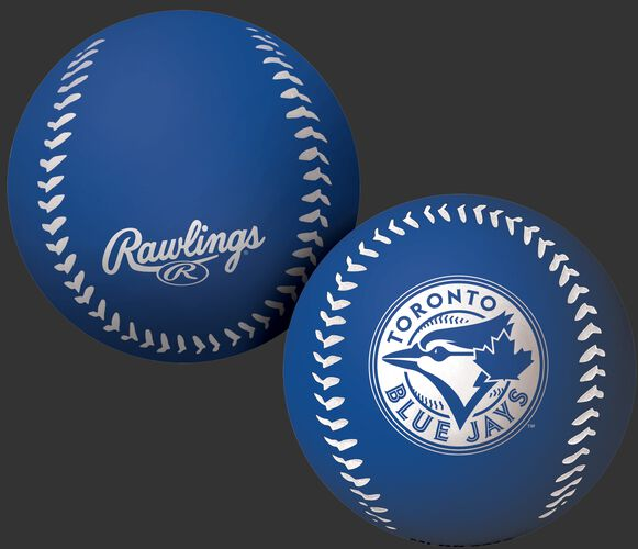 Rawlings Toronto Blue Jays Big Fly Rubber Bounce Ball With Team Logo on Front In Team Colors SKU #02870004112