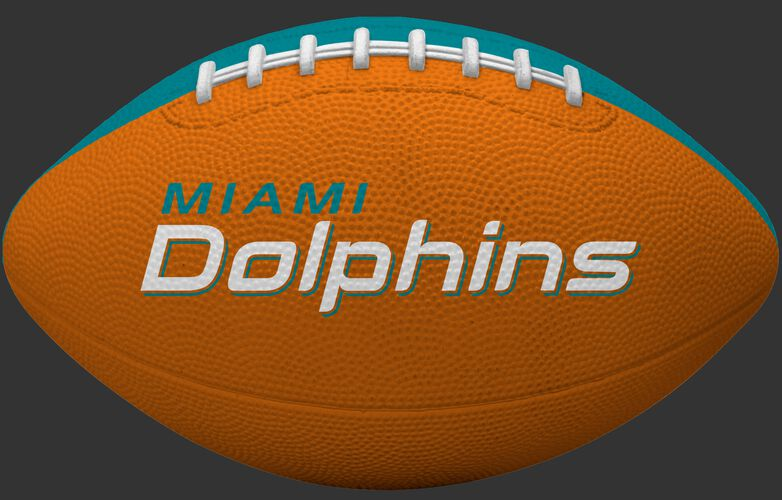 Orange side of a Miami Dolphins Gridiron tailgate football and team name SKU #09501074121