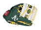 Thumb of a green/white Oakland Athletics 10-inch team logo glove with a white I-web - SKU: 22000003111 image number null