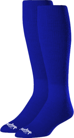 SOC-BLU royal blue over-the-calf socks
