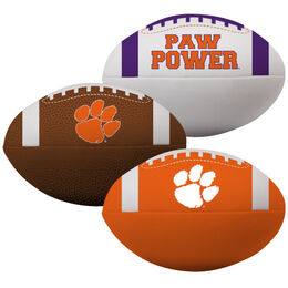 NCAA Clemson Tigers 3 Softee Football Set