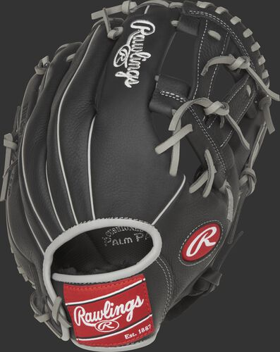SPL150MM 11.5-inch Select Pro Lite Manny Machado youth glove with a black back and grey accents