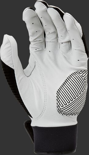 White palm of a WH950BGY-B black Workhorse batting glove