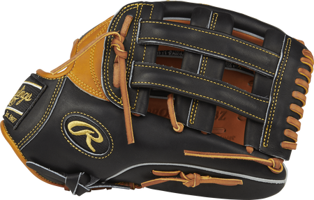 Thumb view of a PRO3039-6TBZ Heart of the Hide ColorSync 12.75-inch outfield glove with a black H web