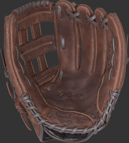 P130HFL Rawlings Player Preferred baseball/softball glove with a brown palm and brown laces