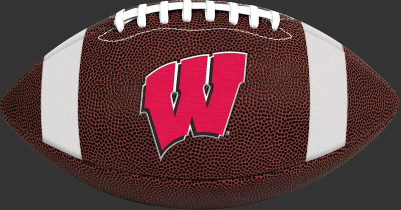 Brown NCAA Wisconsin Badgers Football With Team Logo SKU #04623109811