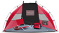 A red/black Rawlings sun shelter with a chair and cooler inside - SKU: 00974043511 image number null