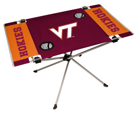 NCAA Virginia Tech Hokies Endzone table featuring team logos and team colors