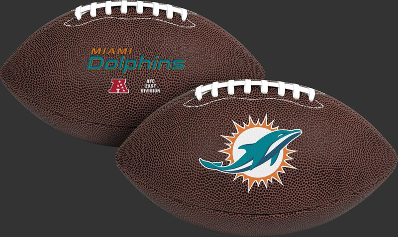 NFL Miami Dolphins Air-It-Out youth football with team name and logo SKU #08041074121