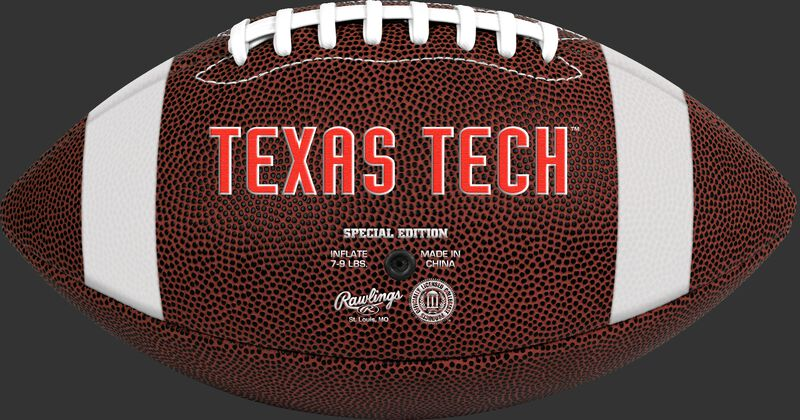 Brown NCAA Texas Tech Red Raiders Football With Team Name SKU #04623063811