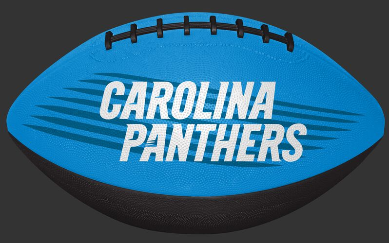 Blue and Black NFL Carolina Panthers Downfield Youth Football With Team Name SKU #07731090121