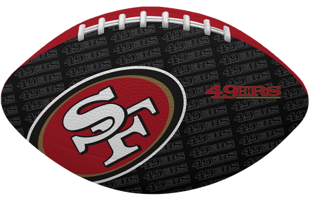 Black side of a NFL San Francisco 49ers Gridiron football with the team logo