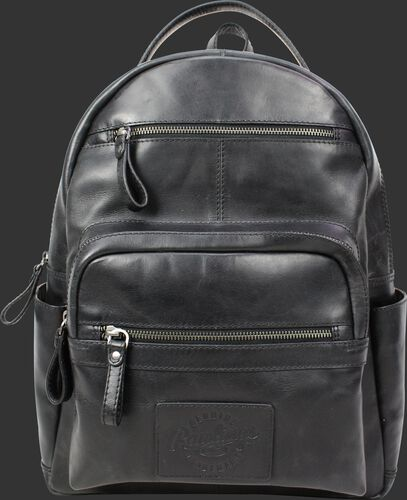 A black RS10057-BLK Rugged medium backpack with two main compartments and two exterior zippered pockets