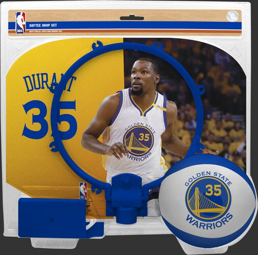 A NBA Golden State Warriors Kevin Durant softee hoop set with a picture of Duran on the backboard - SKU: 03544387512