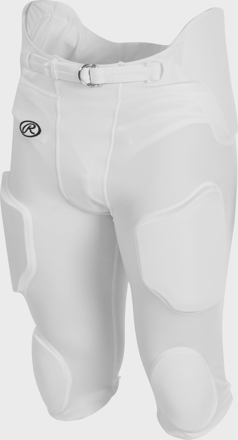 Front of Rawlings White Adult Lightweight Football Pants - SKU #FPL