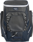 Front of a navy Impulse baseball backpack with a gray front pocket - SKU: IMPLSE-N image number null
