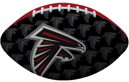 Black side NFL Atlanta Falcons Gridiron football with the team logo