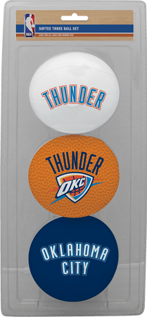 NBA Oklahoma City Thunder Three-Point Softee Basketball Set