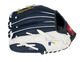 Back of a navy/white Rawlings Milwaukee Brewers youth glove with the MLB logo on the pinky - SKU: 22000006111 image number null