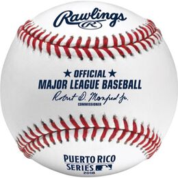 Official 2018 MLB® Puerto Rico Series® On-Field Baseball