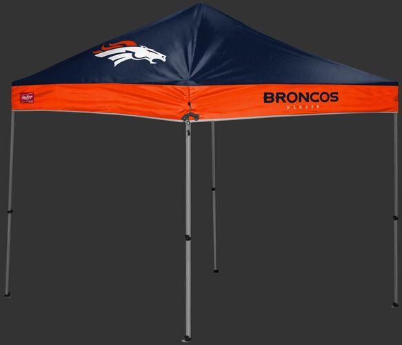 A blue/orange Denver Broncos 9x9 shelter with a team logo on the left side - SKU: 03231066112