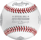 Official ball of MLB stamp on a ALCS19CHMP Houston Astros American League Champions baseball image number null