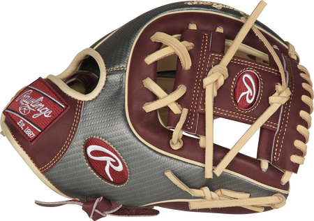 Thumb of a PRO314-2CSHCF Rawlings Heart of the Hide ColorSync 11.5-inch infield glove with a sherry I-web
