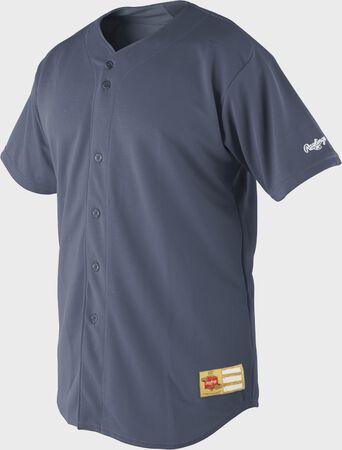 Premium Button Front Short Sleeve Jersey