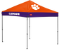 A Clemson Tigers 9'x9' straight leg canopy image number null
