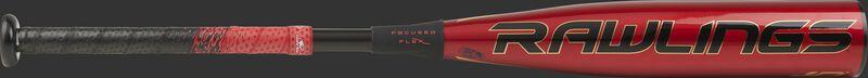 UTZQ10 USSSA Quatro Pro baseball bat with a red barrel, black logo and black/red grip