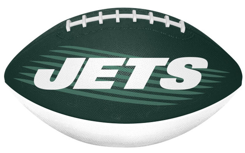 Green and White NFL New York Jets Downfield Youth Football With Team Name SKU #07731079121